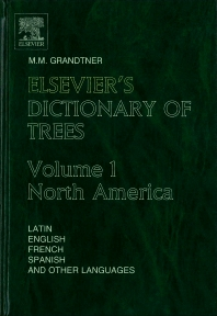 Cover image for Elsevier's Dictionary of Trees