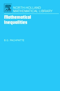 Mathematical Inequalities, 1st Edition,B. Pachpatte,ISBN9780444517951