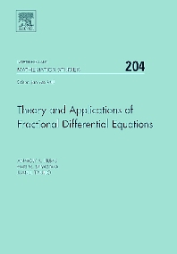 Cover image for Theory and Applications of Fractional Differential Equations