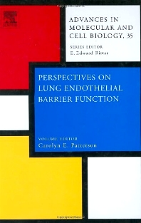 Perspectives on Lung Endothelial Barrier Function, 1st Edition,C.E. Patterson,ISBN9780444518347
