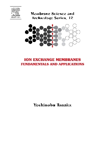 Ion Exchange Membranes - 1st Edition - ISBN: 9780444519825, 9780080548647