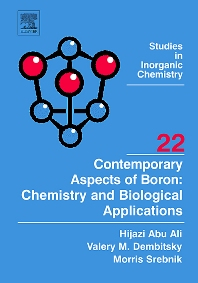 Cover image for Contemporary Aspects of Boron: Chemistry and Biological Applications