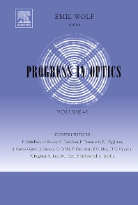 Progress in Optics, 1st Edition,Emil Wolf,ISBN9780444520388
