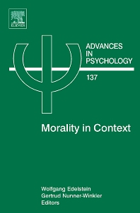 Morality in Context, 1st Edition,Wolfgang Edelstein,Gertrud Nunner-Winkler,ISBN9780444520784