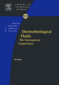 Electrorheological Fluids, 1st Edition,Tian Hao,ISBN9780444521804