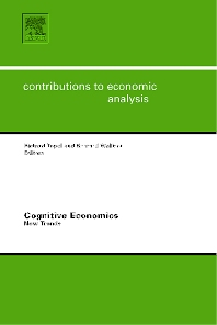 Cognitive Economics: New Trends - 1st Edition - ISBN: 9780444522429