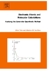 Electronic, Atomic and Molecular Calculations - 1st Edition - ISBN: 9780444527813, 9780080547084