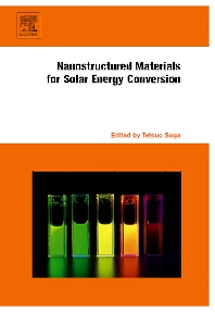 Cover image for Nanostructured Materials for Solar Energy Conversion