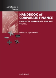 Cover image for Handbook of Empirical Corporate Finance SET