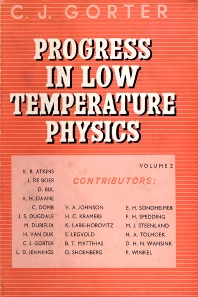 Progress in Low Temperature Physics - 1st Edition - ISBN: 9780444533081, 9780080872964