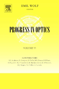 Progress in Optics, 1st Edition,Emil Wolf,ISBN9780444533609