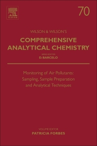 Monitoring of Air Pollutants - 1st Edition - ISBN: 9780444635532, 9780444635563