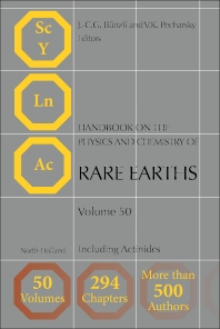 Handbook on the Physics and Chemistry of Rare Earths - 1st Edition - ISBN: 9780444638519, 9780444638526