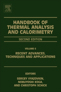 Handbook of thermal analysis and calorimetry volume 6 2nd edition handbook of thermal analysis and calorimetry 2nd edition isbn 9780444640628 9780444640635 fandeluxe Image collections