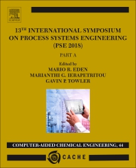 Cover image for 13th International Symposium on Process SystemsEngineering – PSE 2018, July 1-5 2018