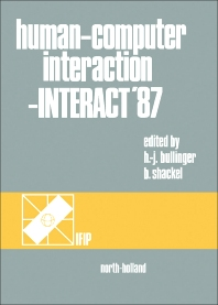 Cover image for Human-Computer Interaction - INTERACT '87