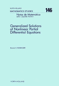 Generalized Solutions of Nonlinear Partial Differential Equations - 1st Edition - ISBN: 9780444703101, 9780080872575