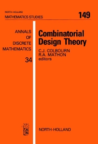 Combinatorial Design Theory - 1st Edition - ISBN: 9780444703286, 9780080872605