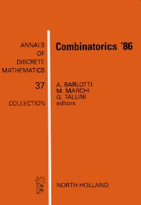Combinatorics '86 - 1st Edition - ISBN: 9780444703699, 9780080867779