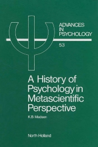 Cover image for A History of Psychology in Metascientific Perspective