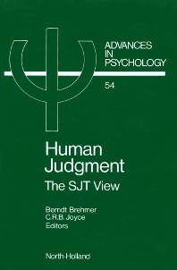 Human Judgment - 1st Edition - ISBN: 9780444704818, 9780080867083
