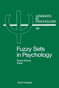 Fuzzy Sets in Psychology, 1st Edition,T. Zetenyi,ISBN9780444705044