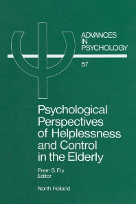 Cover image for Psychological Perspectives of Helplessness and Control in the Elderly