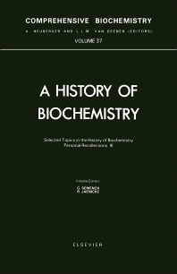 Cover image for Selected Topics in the History of Biochemistry. Personal Recollections. Part III