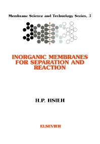 Inorganic Membranes for Separation and Reaction