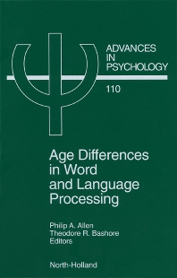 Cover image for Age Differences in Word and Language Processing