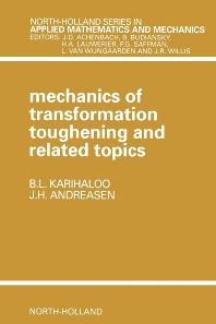 Cover image for Mechanics of Transformation Toughening and Related Topics