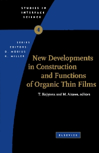 Cover image for New Developments in Construction and Functions of Organic Thin Films