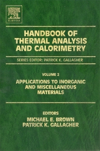 Handbook of Thermal Analysis and Calorimetry - 1st Edition - ISBN: 9780444820853, 9780080539591