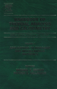 Handbook of Thermal Analysis and Calorimetry - 1st Edition - ISBN: 9780444820860, 9780080499192