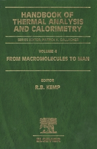 Handbook of Thermal Analysis and Calorimetry, 1st Edition,Richard Kemp,ISBN9780444820884