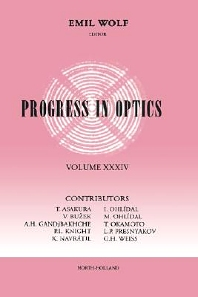 Progress in Optics, 1st Edition,Emil Wolf,ISBN9780444821409