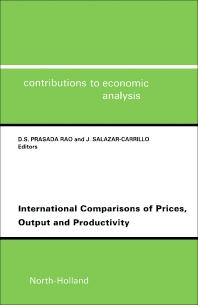 Cover image for International Comparisons of Prices, Output and Productivity