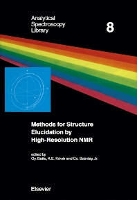 Cover image for Methods for Structure Elucidation by High-Resolution NMR