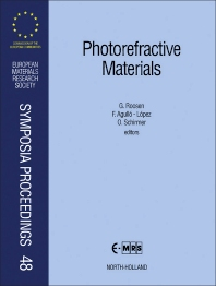 Cover image for Photorefractive Materials