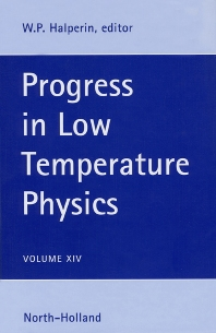 Progress in Low Temperature Physics, 1st Edition,W.P. Halperin,ISBN9780444822338