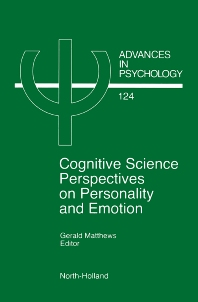 Cognitive Science Perspectives on Personality and Emotion, 1st Edition,G. Matthews,ISBN9780444824509
