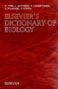 Elsevier's Dictionary of Biology - 1st Edition - ISBN: 9780444825254, 9780080885599