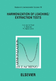 Cover image for Harmonization of Leaching/Extraction Tests