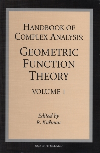 Cover image for Handbook of Complex Analysis