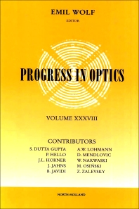 Progress in Optics - 1st Edition - ISBN: 9780444829078, 9780080879987
