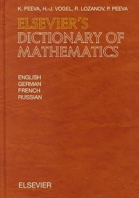 Elsevier's Dictionary of Mathematics - 1st Edition - ISBN: 9780444829535, 9780080933504