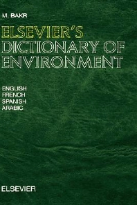 Cover image for Elsevier's Dictionary of Environment