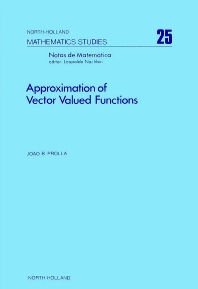Approximation of Vector Valued Functions - 1st Edition - ISBN: 9780444850300, 9780080871363