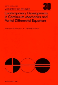 Contemporary Developments in Continuum Mechanics and Partial Differential Equations - 1st Edition - ISBN: 9780444851666, 9780080871417