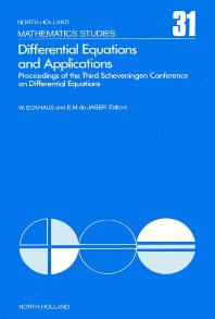 Differential Equations and Applications - 1st Edition - ISBN: 9780444851857, 9780080871424